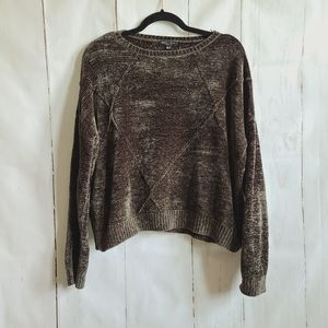 Romeo Juliet couture olive green cropped sweater